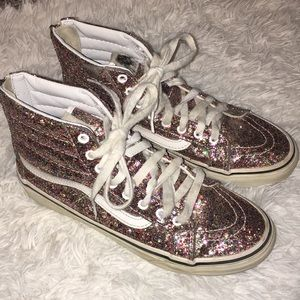 VANS glitter high Top SK8 sparkly sneakers shoes